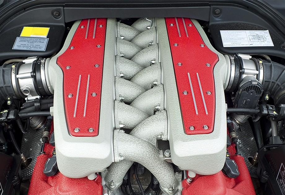 Vehicle Engine With Interior Labels
