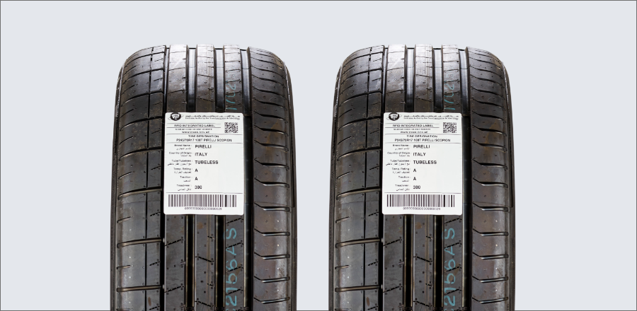 RFID tyres label - Avery Dennison